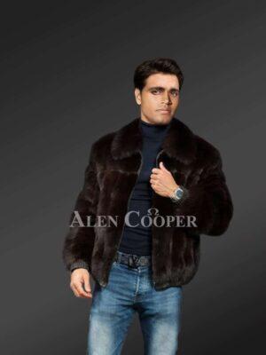 Mink fur Jacket For Men