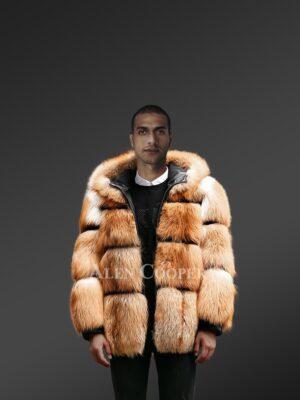 Impeccable Men's Red Fox Fur Jacket view