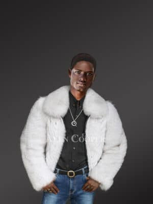 Incredible Fox Fur Bomber Jacket For Men