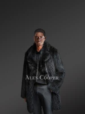 Men's Black Raccoon Fur Coat