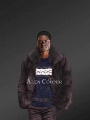 Men's Fox Fur Bomber Jacket