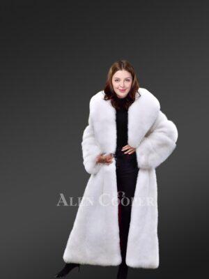 Authentic Arctic Fox Fur Coat for Women