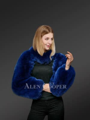 Authentic Full Skin Fox Fur Collar and Sleeve