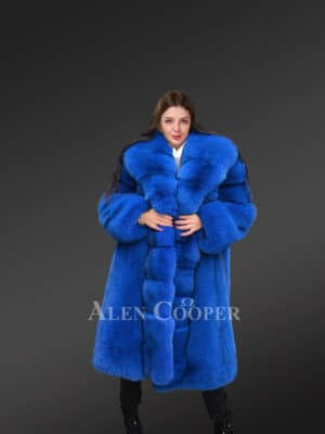 Iceland Fox Fur Long Coat