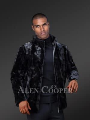 Men's Genuine Black Mink Jacket