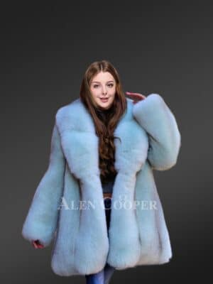Original Arctic Fox Fur Swing Coat