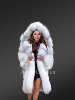 Premium Fox Fur Long Coat for all Occasions view