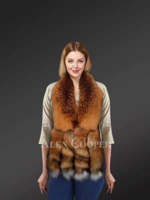 Real Fox Fur Collar Scarf