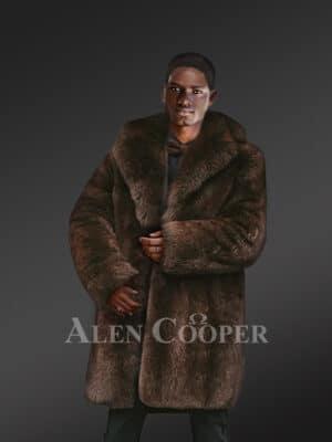 Men's High Quality Iceland Fox Fur Coat