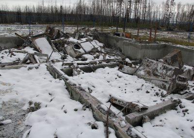Alberta Infrastructure, Forestry Bunkhouse, Demolition