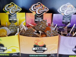 Chronic Candy 10mg CBD lollipop edibles at Nature's Green House in Fort Lauderdale, FL