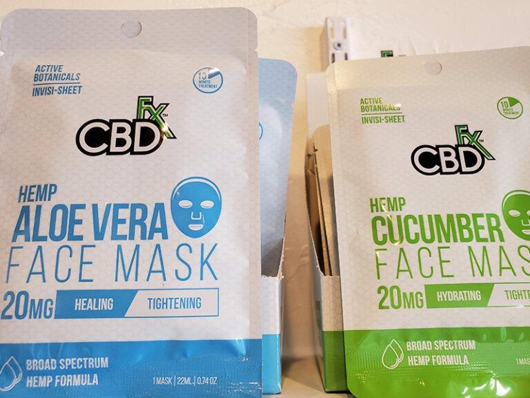 CBD FX Hemp Aloe Vera and Cucumber Face masks at Nature's Green House in Fort Lauderdale, FL