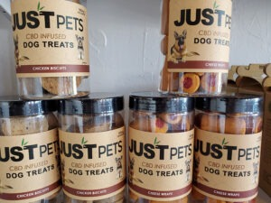 Just Pets CBD infused Dog treats for sale at Nature's Green House in Fort Lauderdale, FL