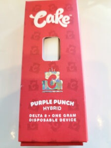 Cake - Delta 8 Vape Disposable 940mg - Purple Punch Sativa   Nature's Green House