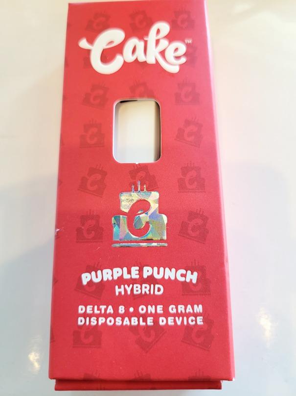 Cake - Delta 8 Vape Disposable 940mg - Purple Punch Sativa
