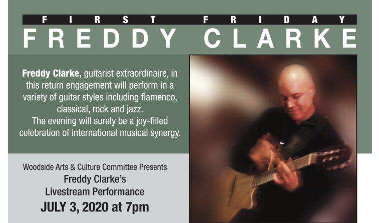 Freddy Clarke Woodside First Friday Event