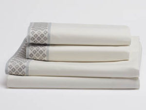Organic cotton sheet sets- diamond cuff by Coyuchi