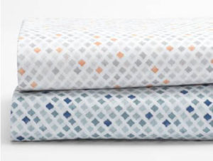 Sheet set organic cotton printed watercolor by Coyuchi