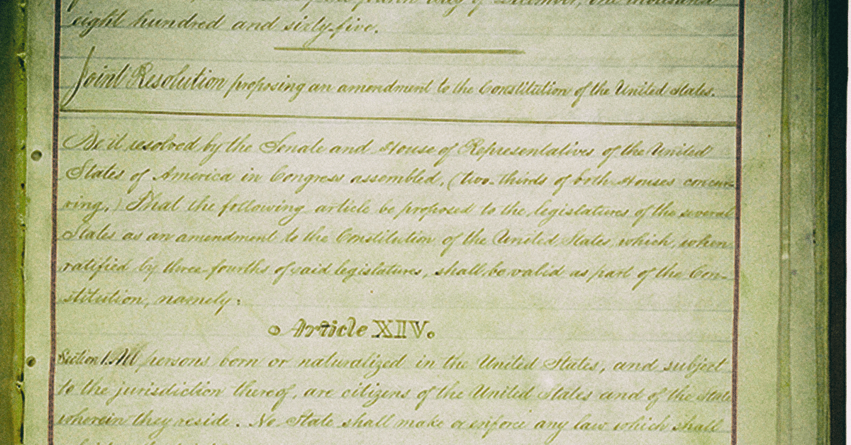 how is the 14th amendment used today