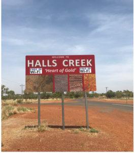 Halls Creek Town Sign