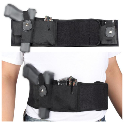 Gun Holster Adjustable Belly Band Holsters For Concealed Carry