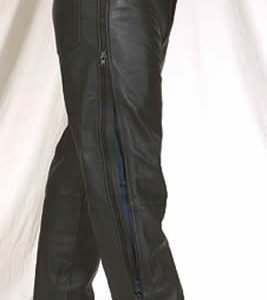Naked Cowhide Leather Motorcycle Chaps / Pants