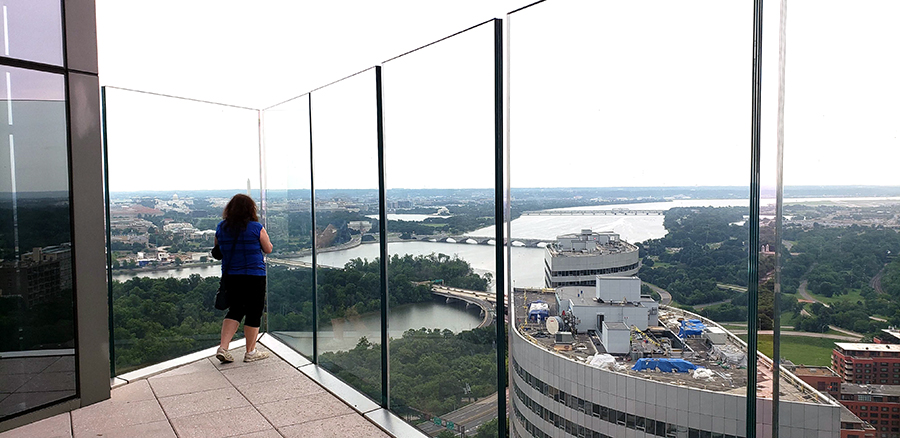 New Observation Deck with Panoramic Views of Washington DC