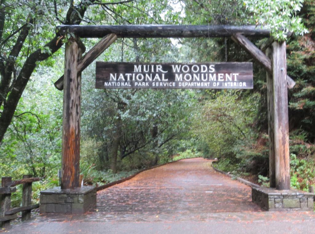 Entry way to Muir Woods walk