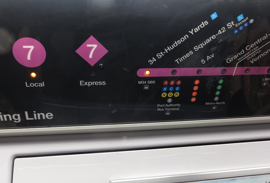 Diamond shape means the subway is running express
