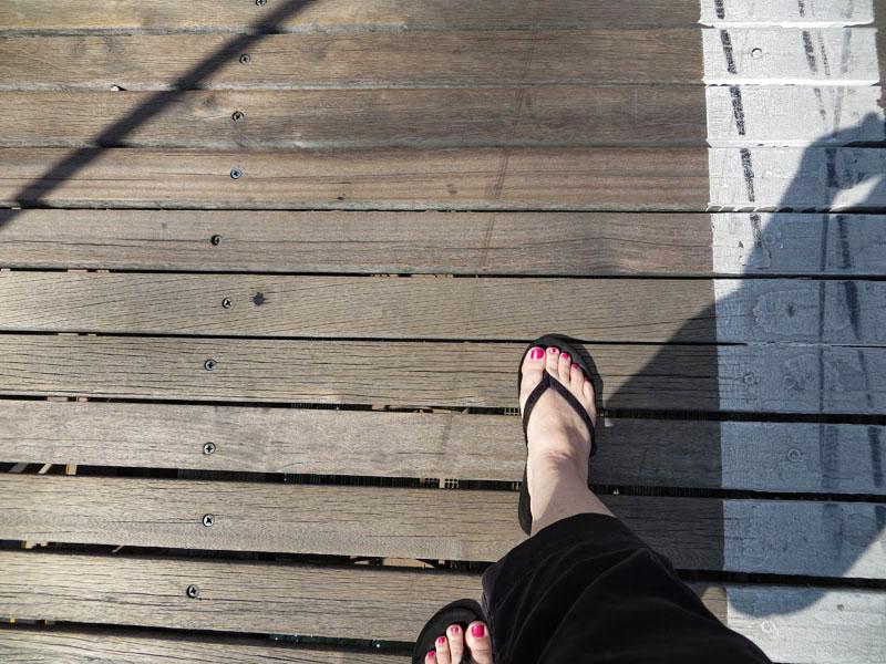 My walk first walk across the Brooklyn Bridge