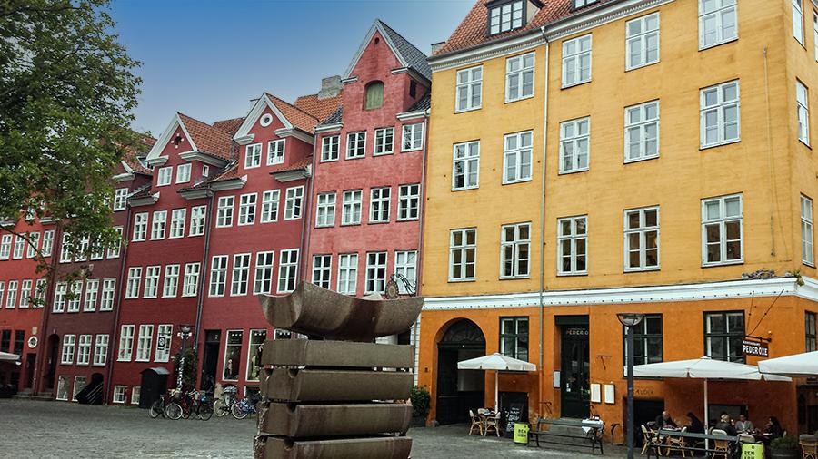 Copenhagen is colorful