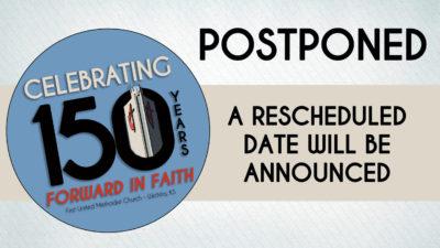 150th Anniversary Postponed