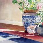 Geraniums Watercolor