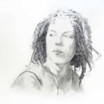 Rachel Graphite 18x22