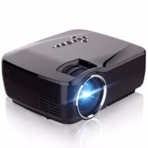 WiFi Projector,ELEGIANT 1200 Lumens Wireless Mini LED Video Projector Support 1080P VGA USB SD AV Miracast Airplay for Home Theater Movie Video Games