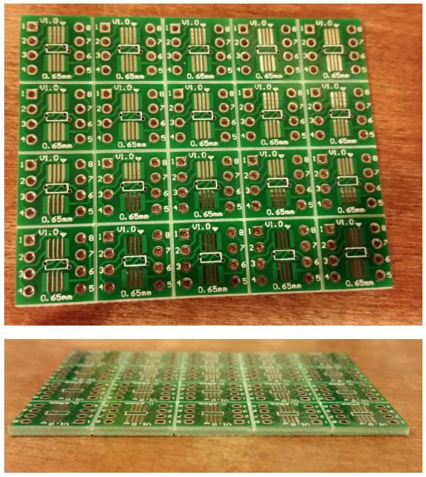 PCB fabrication v-score
