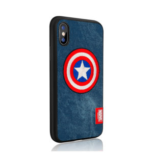 MARVEL Authorized Embroidery Hard Case Captain America [iPhone]