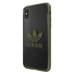 Adidas Original Electroplate Soft Case Green iPhone XS / X