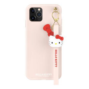 Sanrio Authentic Hello Kitty Silicon Pink with Strap Lanyard Case [iPhone 11 Series]