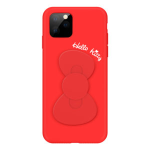 Sanrio Authentic Hello Kitty Bowknot Silicon Red [iPhone 11 Series]