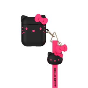 Sanrio Authentic Hello Kitty Silicon Black Case [AirPods Series 1 / 2]
