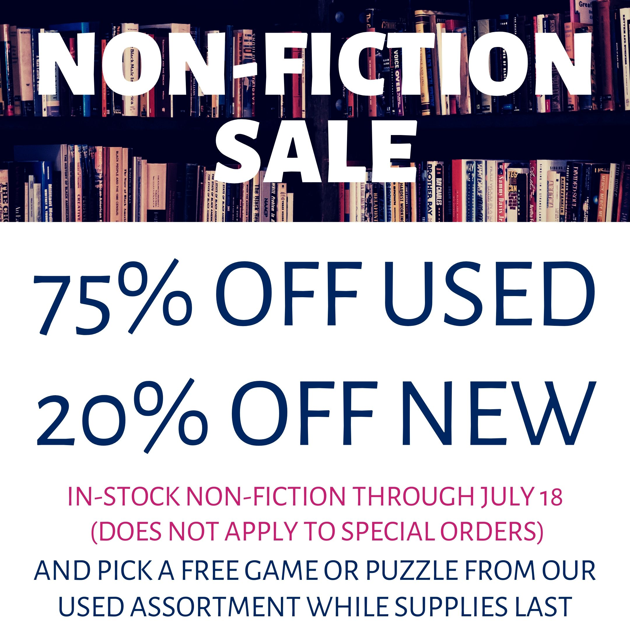 Non-Fiction Clearance!