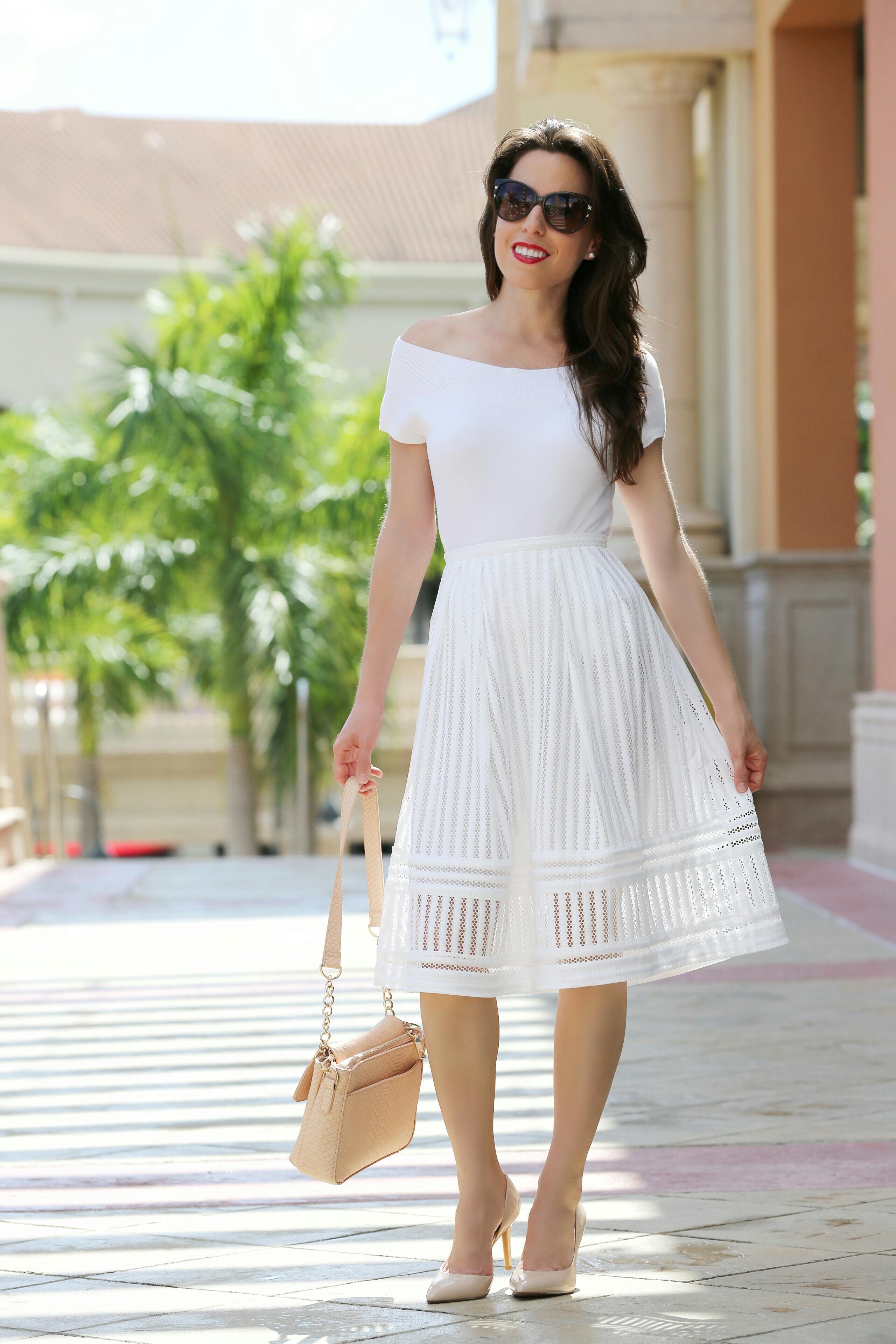 white-mid-skirt