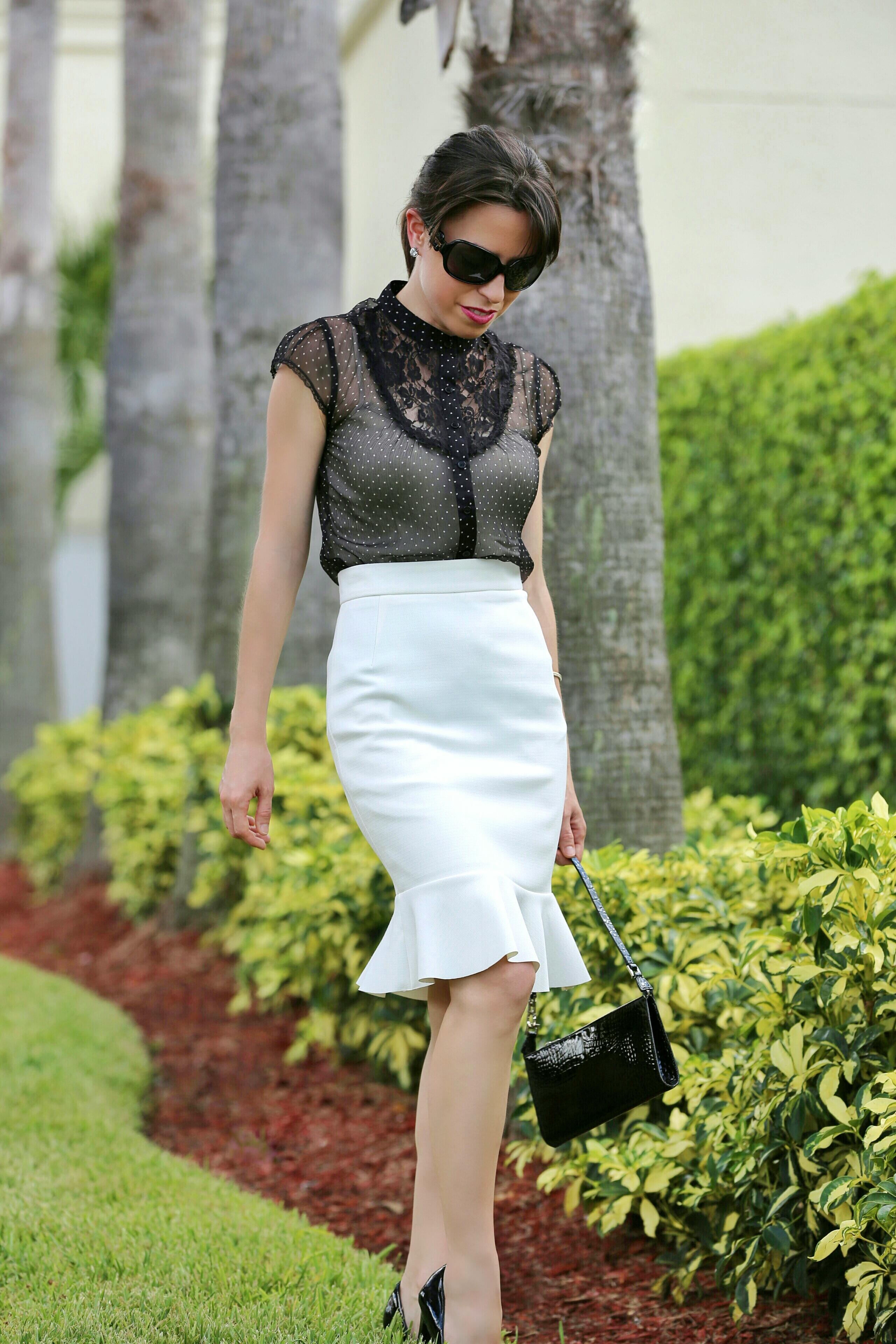 white-trumpet-skirt