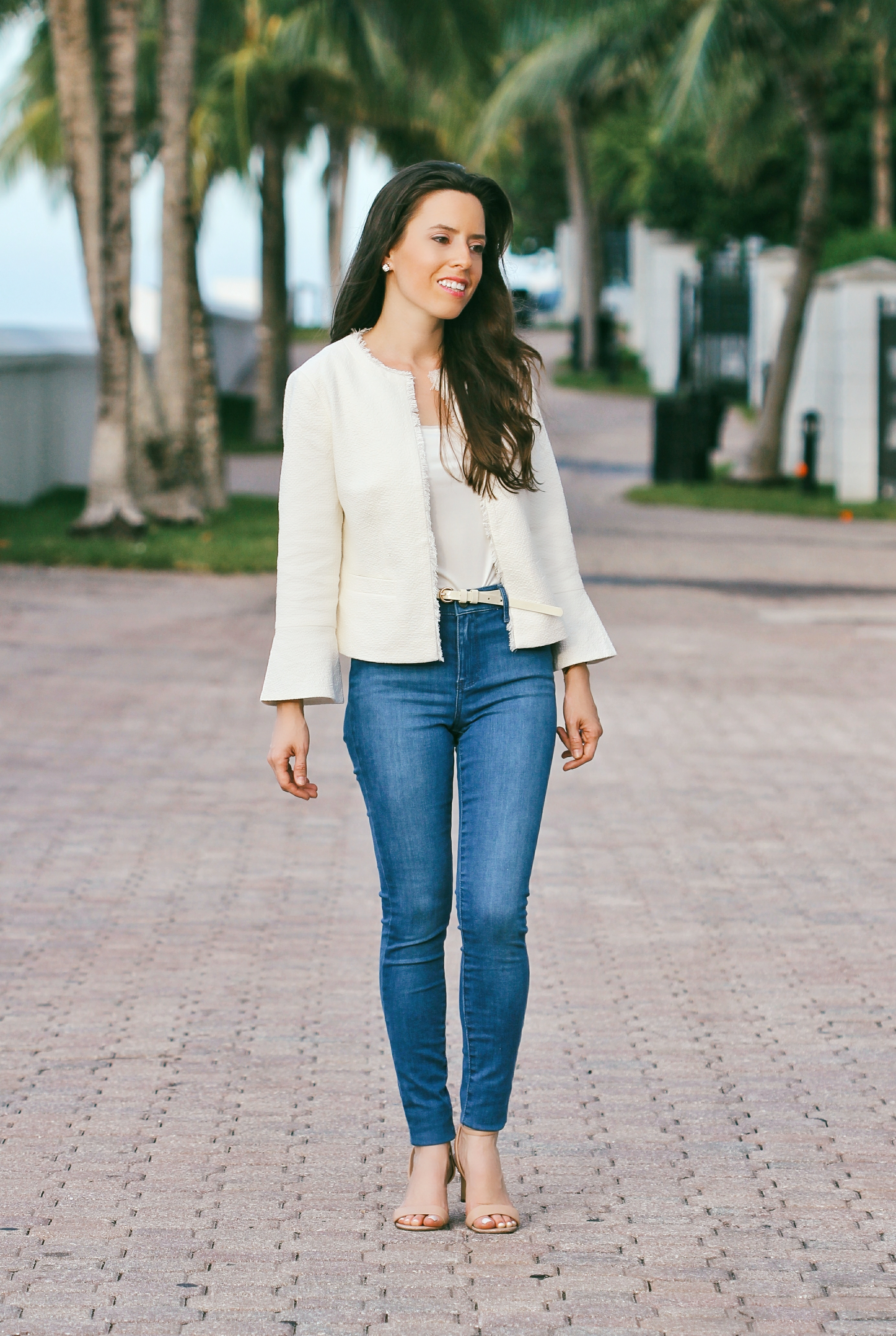 tweed jacket miami fashion blogger