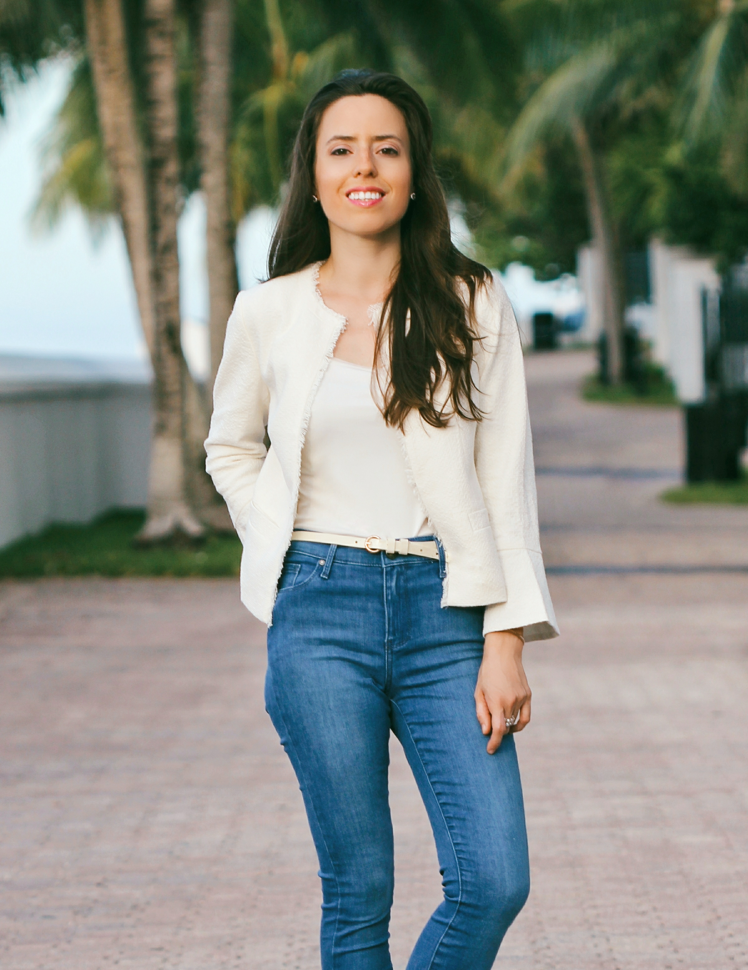 ann taylor tweed jacket miami blogger