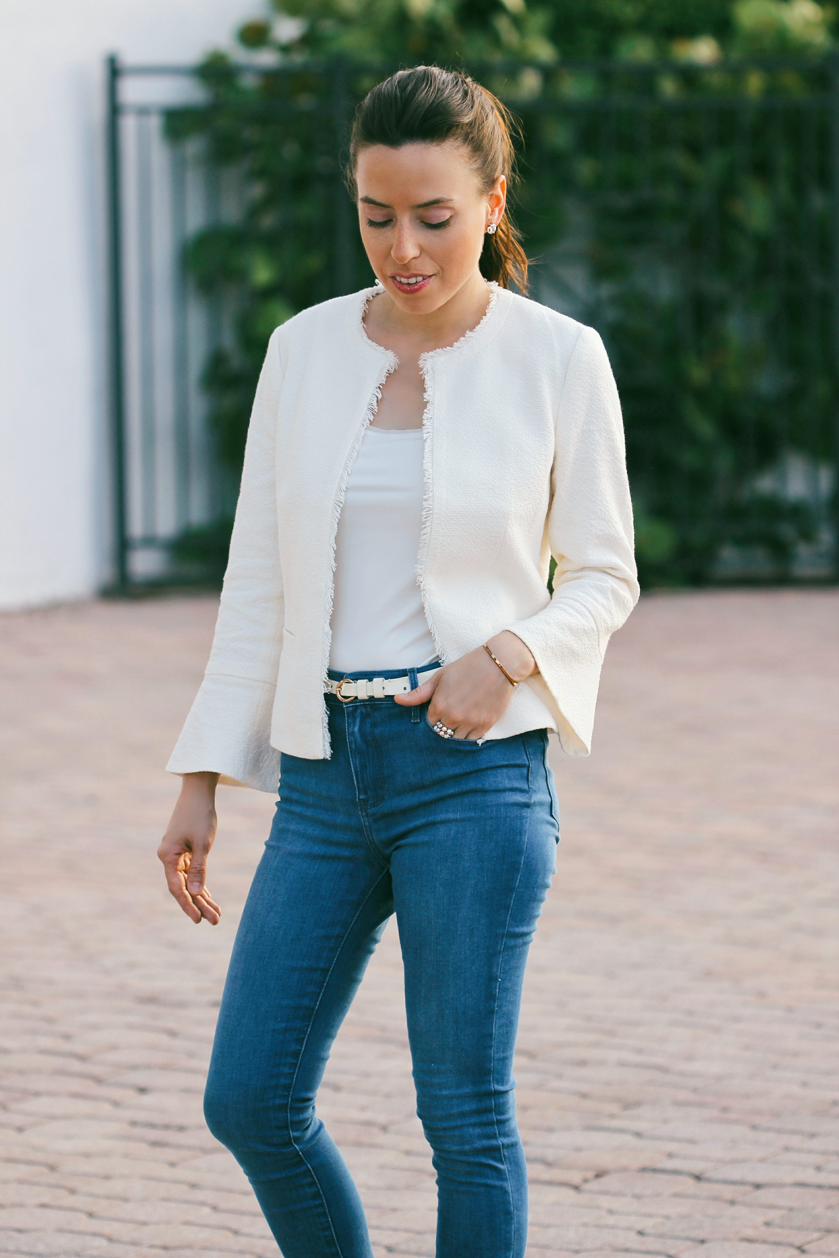 tweed denim miami blogger
