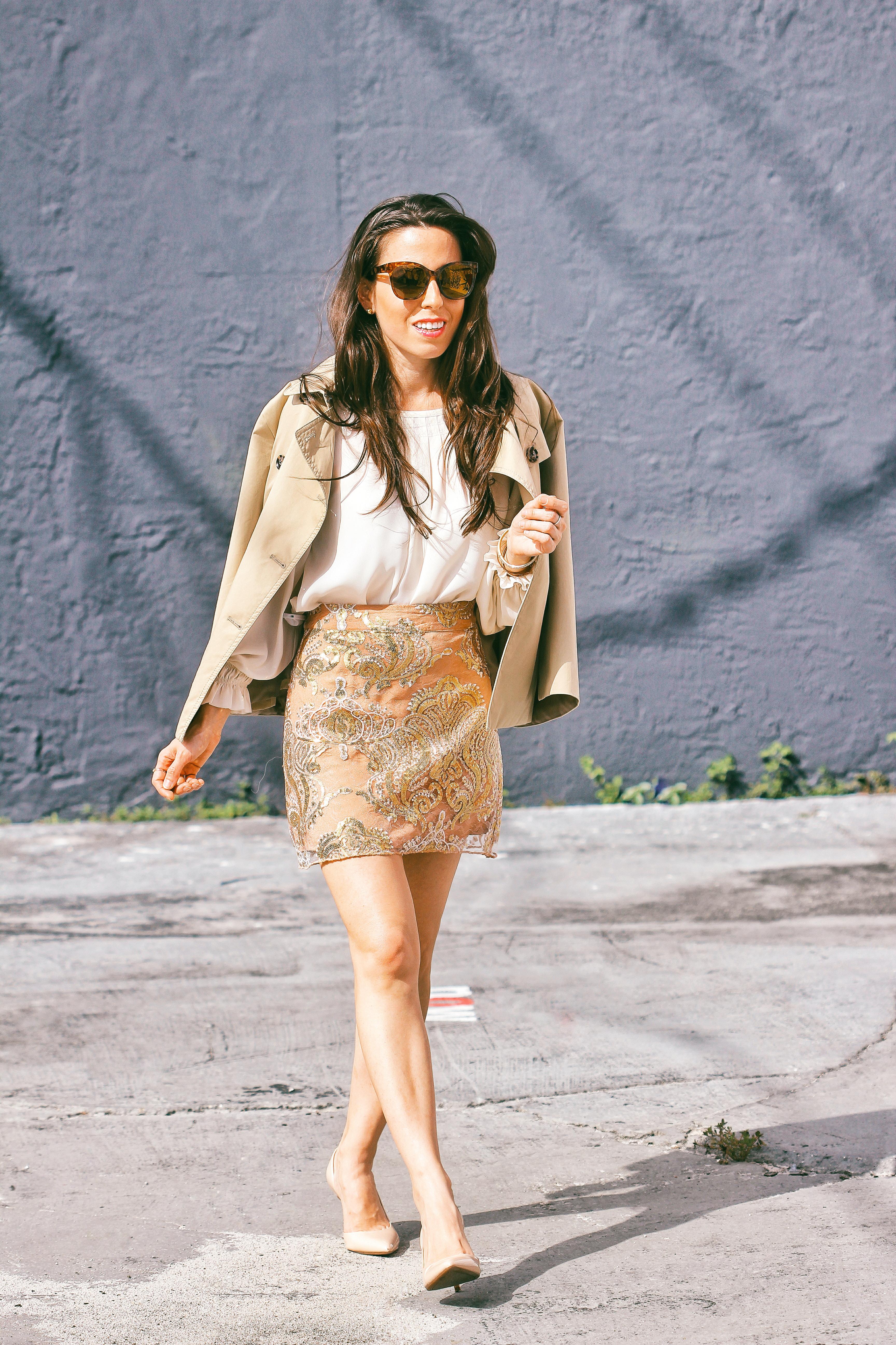 ana florentina forever 21 sequin skirt