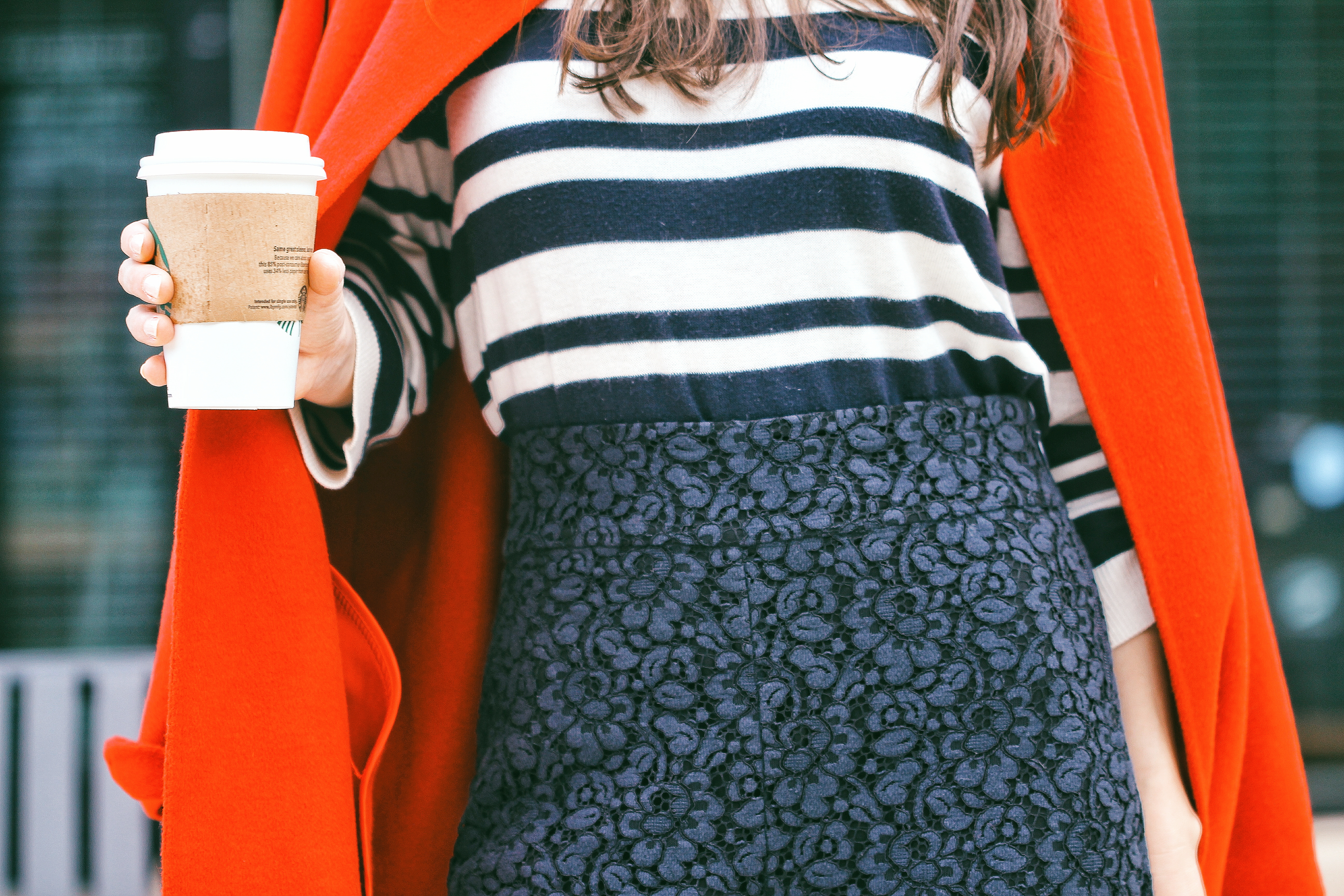 how to style a red coat