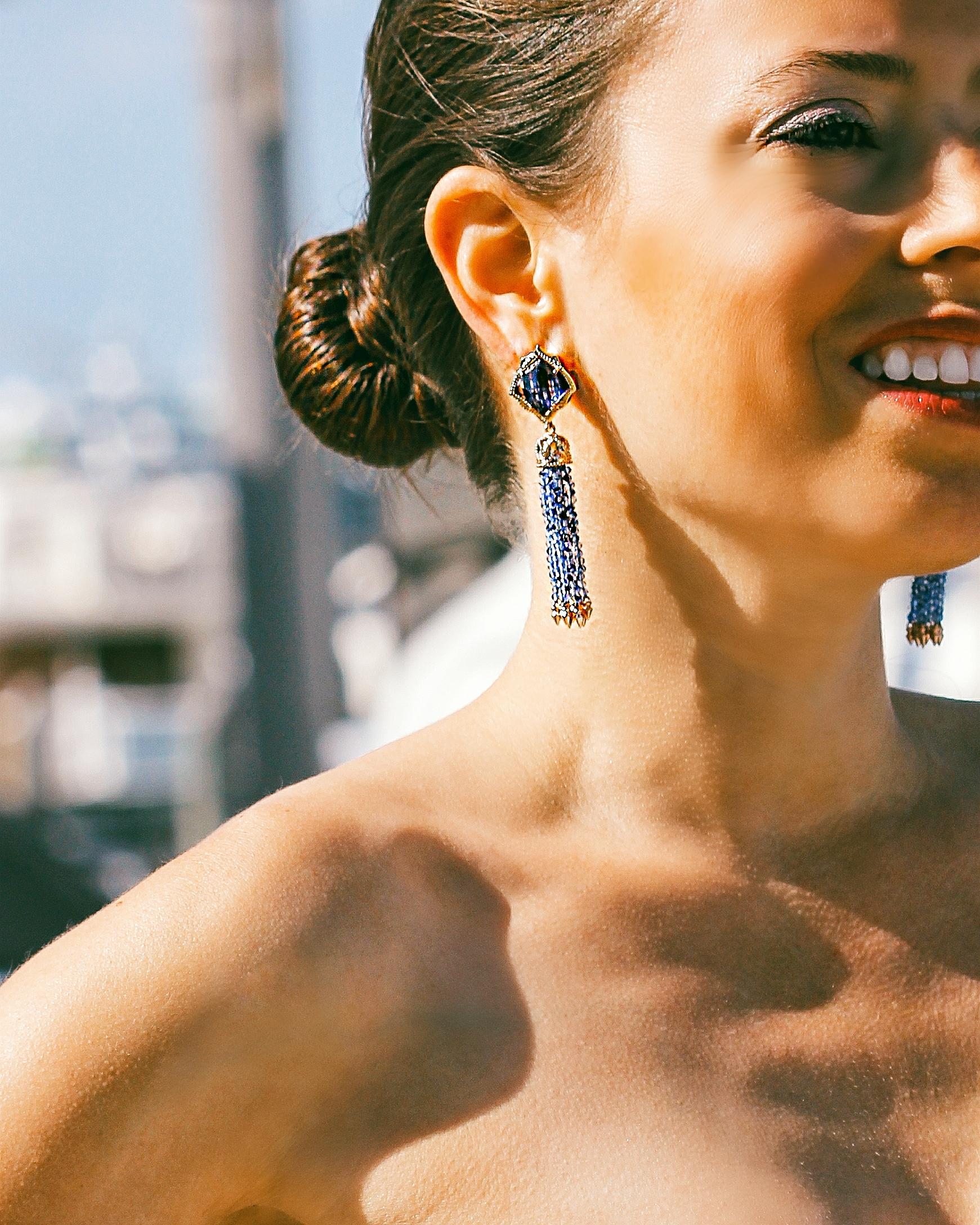 kendra scott misha earring tassel earring navy
